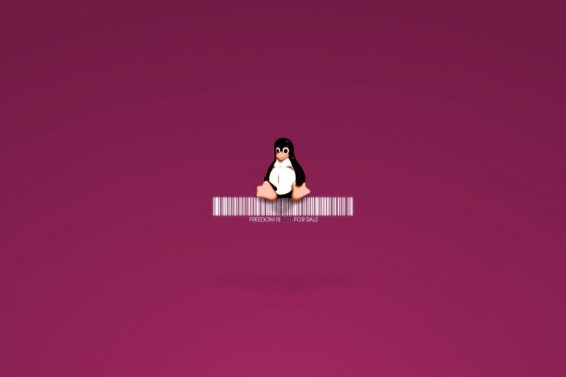 Preview wallpaper linux, tux, penguin, logo, barcode 1920x1080