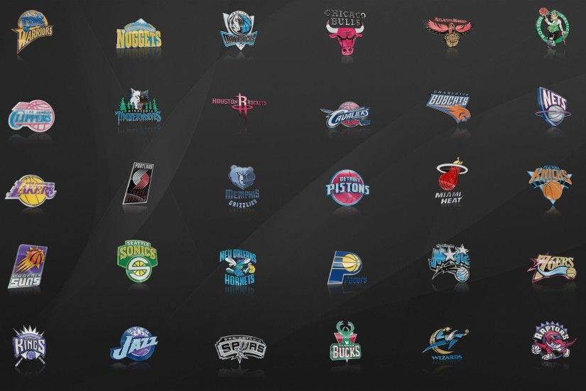 NBA Logos Wallpaper - WallpaperSafari
