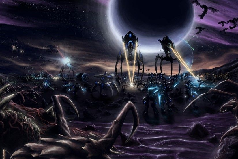 Starcraft II, Protoss, Zerg, Terran Wallpapers HD / Desktop and Mobile  Backgrounds