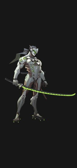 Overwatch genji dark art iPhone X Wallpaper