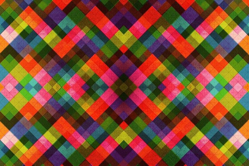 Multicolored tile pattern Wallpaper #