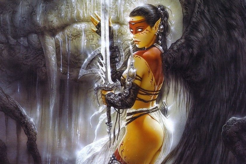 Luis Royo, Fantasy Art, Sexy Wallpapers HD / Desktop and Mobile Backgrounds