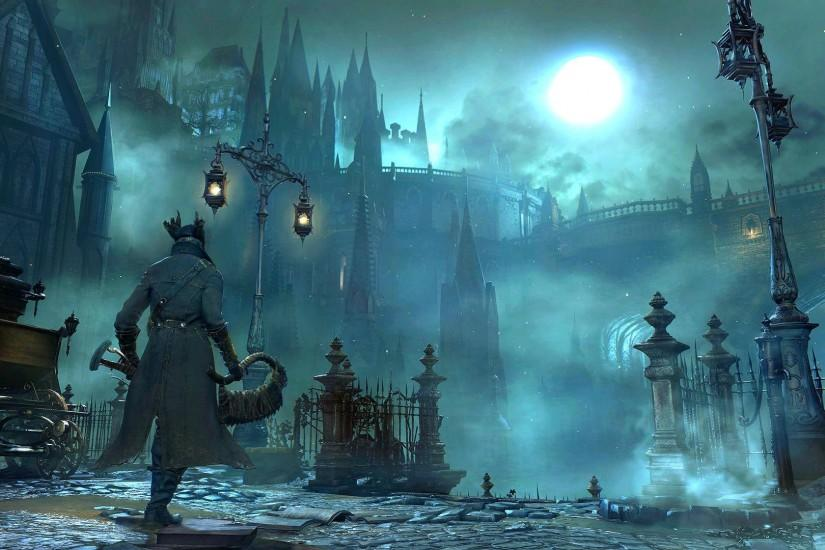 BLOODBORNE rpg action fighting gothic survival apocalyptic dark sci-fi  horror fantasy wallpaper | 1920x1080 | 532014 | WallpaperUP