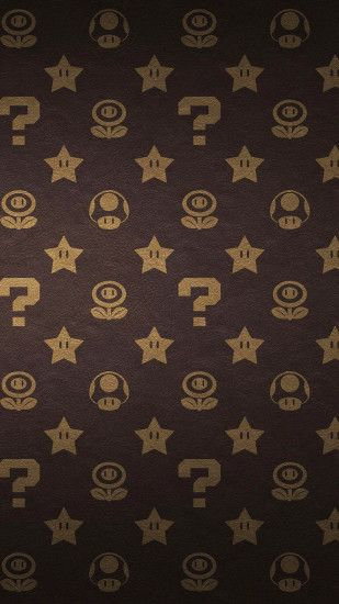 Super Mario brothers Louis Vuitton print pattern