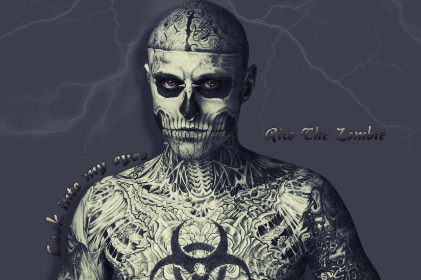 Model Rick Genest Zombie Boy Men Males Dark Skull Wallpaper At Dark  Wallpapers