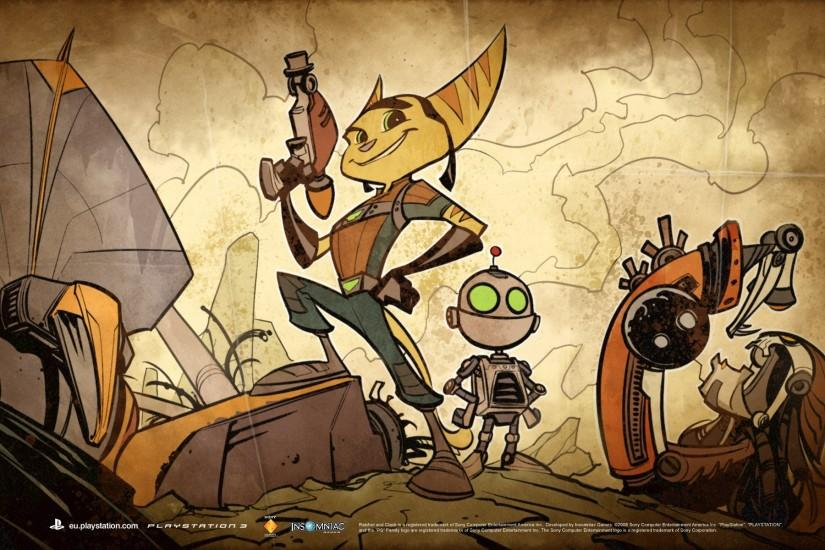 ratchet and clank quest for booty wallpaper
