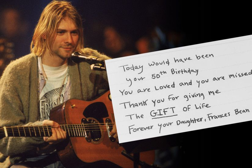 Frances Cobain writes sweet note to dad Kurt Cobain on his 50th birthday -  TODAY.com