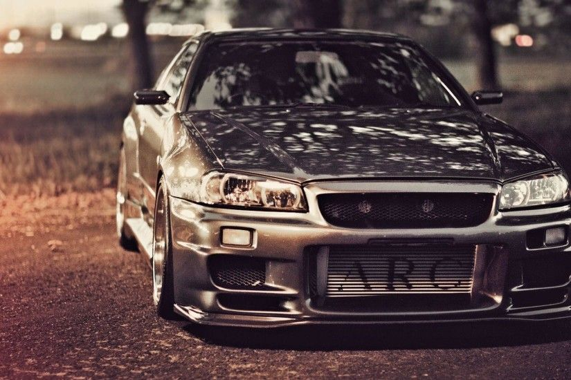Wallpapers nissan skyline, gt-r, r34, nissan, tuning, road,