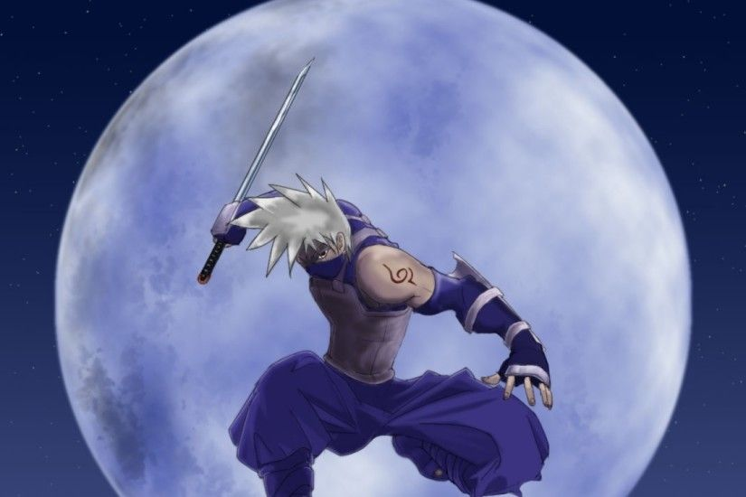1920x1080 Wallpaper naruto, hatake kakashi, guy, arms, moon, jump