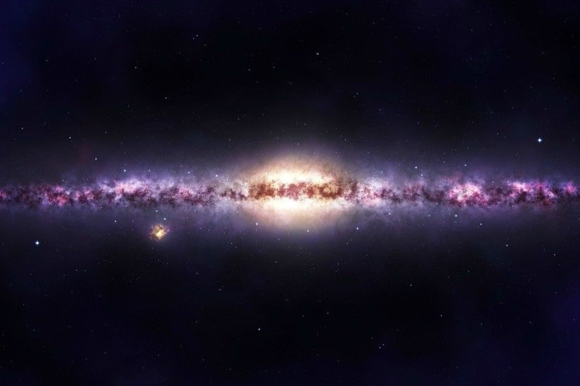 HD Clear. 2500 x 1250. Milkyway by DeathCl0ck. | Space Wallpaper | Pinterest
