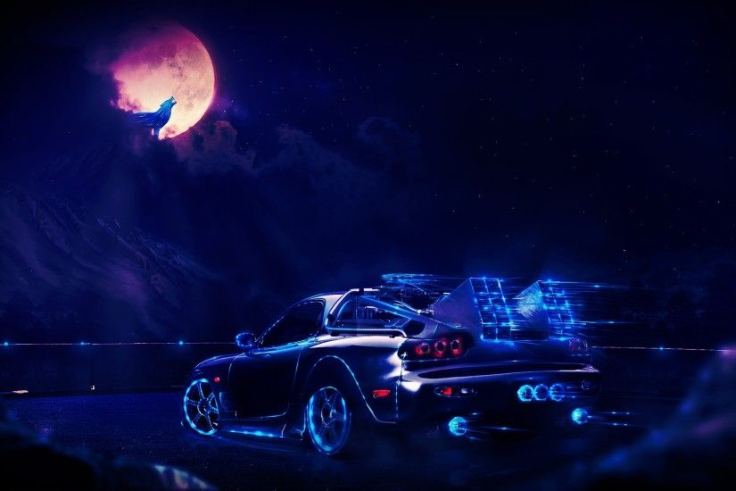 artwork, Concept Art, Fantasy Art, Car, Neon Wallpapers HD / Desktop and  Mobile Backgrounds