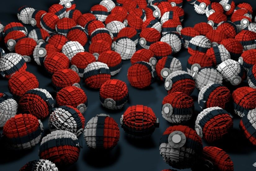 Abstract Pokemon Lego Video Games Poke Balls Voxels Wallpaper At 3d  Wallpapers