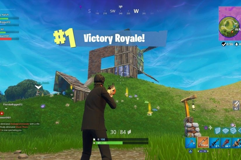 Fortnite Victory Royale Widescreen Desktop Wallpaper 780