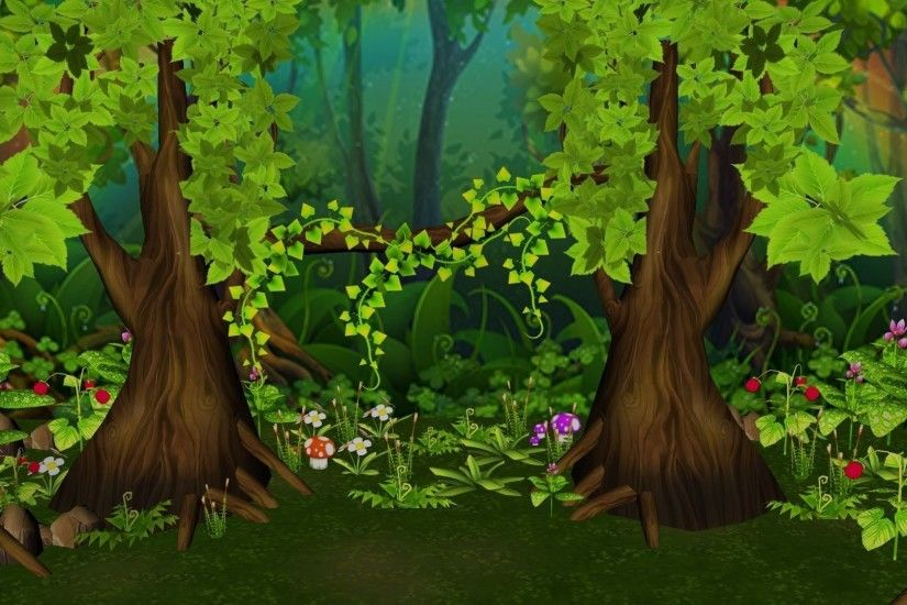 ... forest background 3d model obj fbx ma mb 2 ...