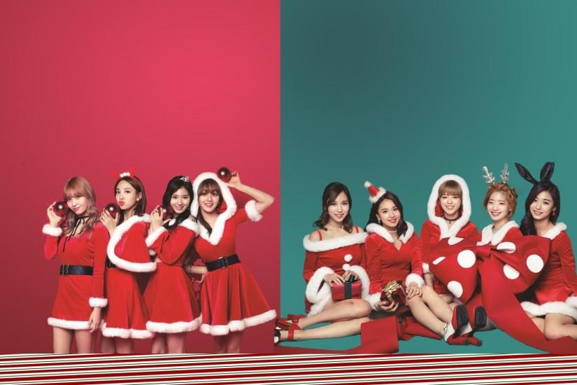 PicA TWICE Christmas wallpaper I made ...