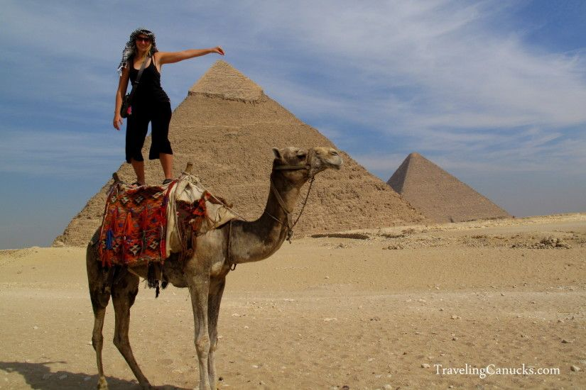 Nicole Camel Surfing at the Pyramids