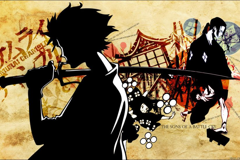 Samurai Champloo katana samurai anime anime boys Japanese clothes /  1920x1200 Wallpaper