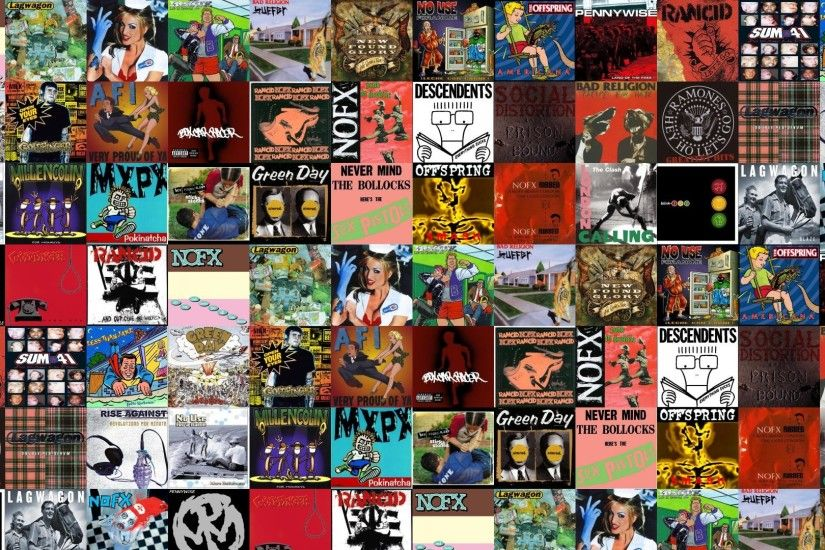 Download this free wallpaper with images of Nofx – So Long And Thanks For  All The Shoes, Lagwagon – Trashed, Blink 182 – Enema Of The State, Mxpx –  Life In ...