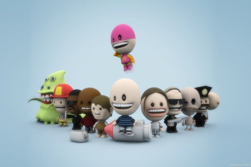 3D Funny Characters