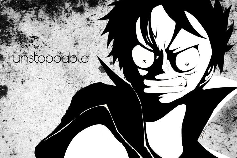 I'm unstoppable - One Piece Luffy PC wallpaper by GoldenPaintBrush .