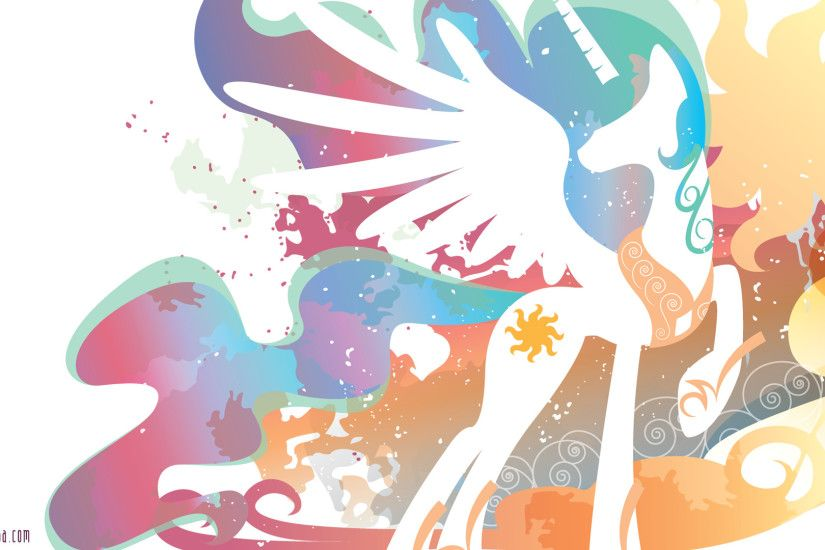 Cartoon - My Little Pony: Friendship is Magic Vector Princess Celestia My  Little Pony White
