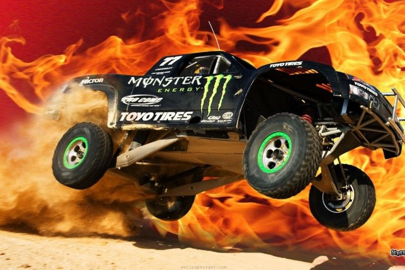 Wallpapers Backgrounds - Car energy screen monster wallpaper fire road .