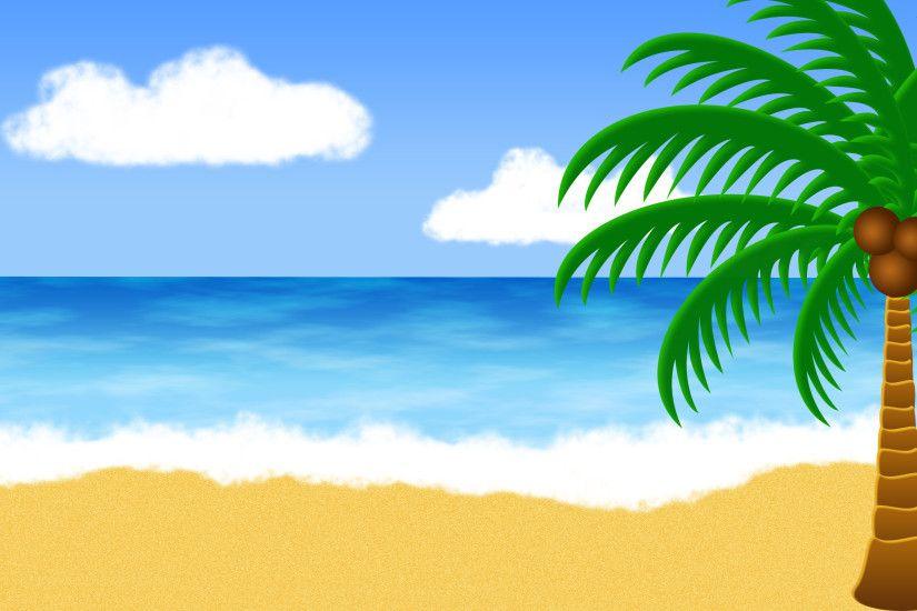 Cartoon Beach Wallpaper: Summer Beach Backgrounds ·① WallpaperTag