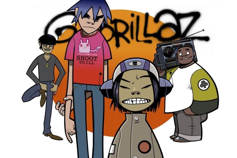 gorillaz murdoc 2d russel noodle murdoch russell gorillaz the group music  graffiti