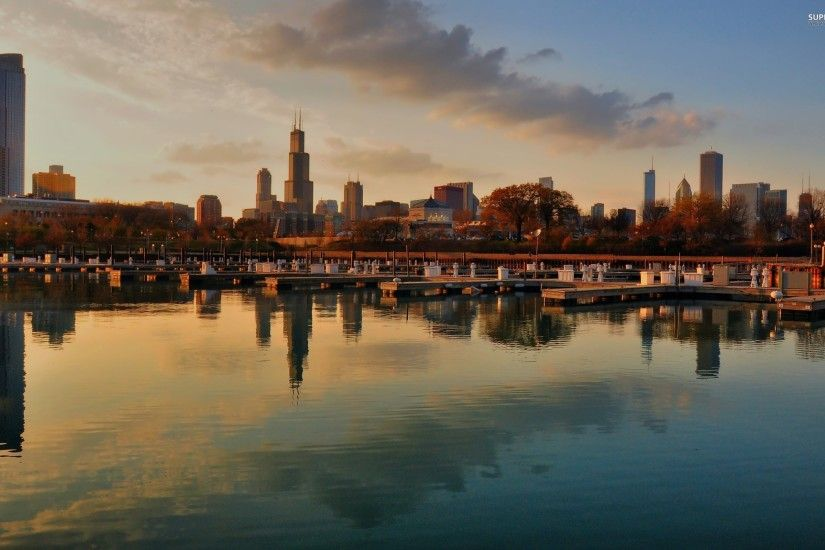 Chicago City Skyline Picture Wallpaper. Chicago Winter Wallpaper . HD ...