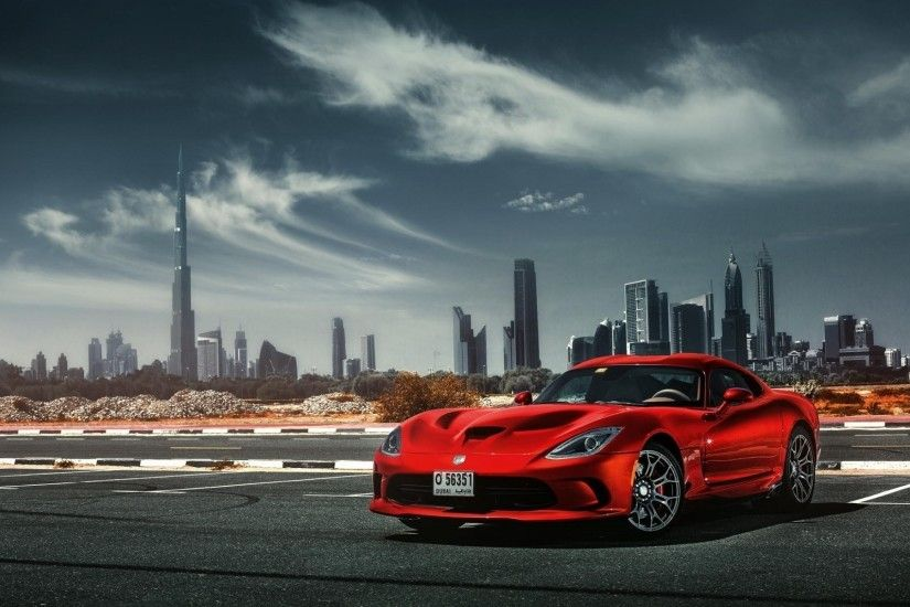 dodge viper srt red car hd wallpaper