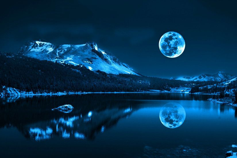 Related Wallpapers from Milky Way Wallpaper. Full moon over lake