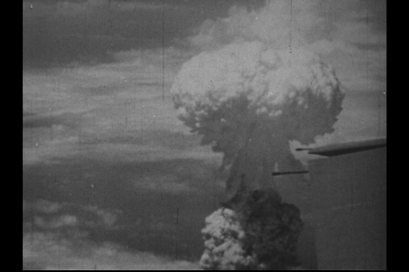 JAPAN 1940s: A closer view of the mushroom cloud developing after atomic  bomb dropping. Stock Video Footage - VideoBlocks