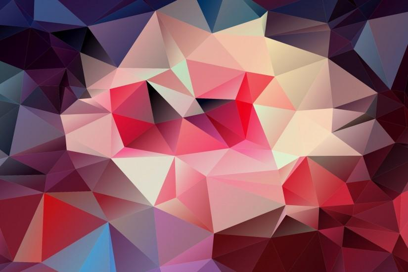 3D Triangle Shapes Pattern Wallpaper