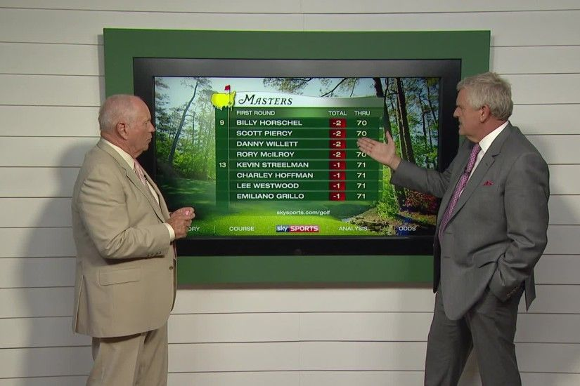 Butch Harmon and Colin Montgomerie look back at the first day of the Masters