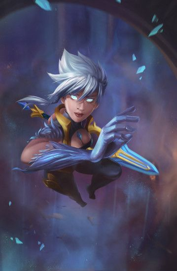 Dawnbringer Riven by nquyen HD Wallpaper Background Fan Art Artwork League  of Legends lol
