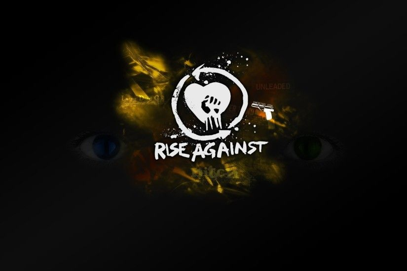 1920x1080 Wallpaper rise against, name, symbol, graphics, eyes