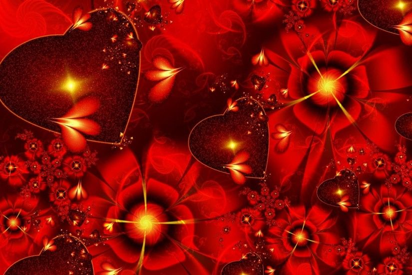3d Abstract Happy Valentines Day Wide Wallpape #12813 Wallpaper .
