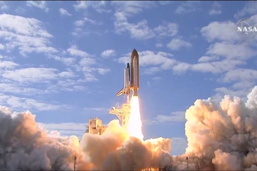 Space Shuttle Launch NASA Atlantis to the International Space Station -  YouTube
