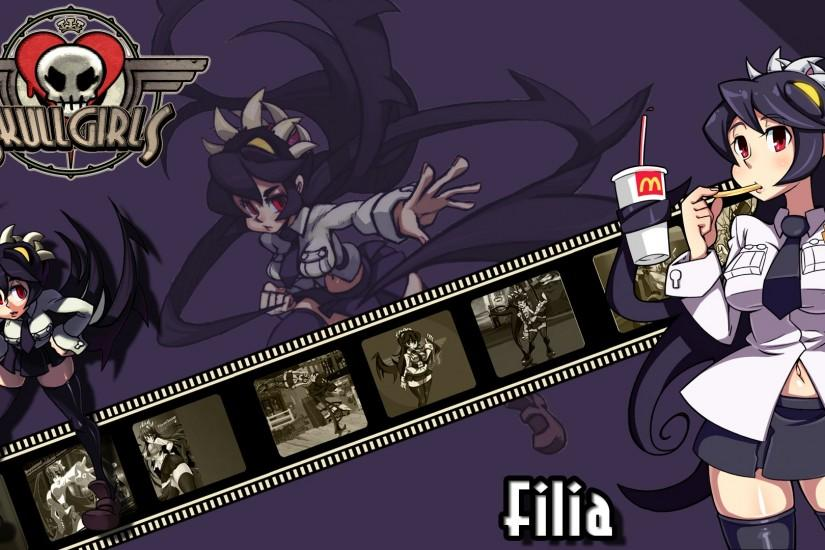 Skullgirls : Filia Wallpaper .