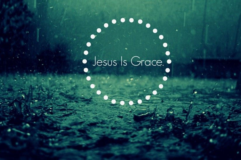 Jesus is grace -Falling Rain Background with Sound | Rain-Drops-Keep-