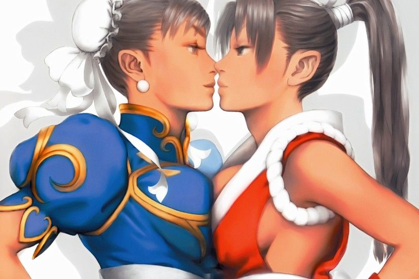Chun Li and Mai desktop wallpaper