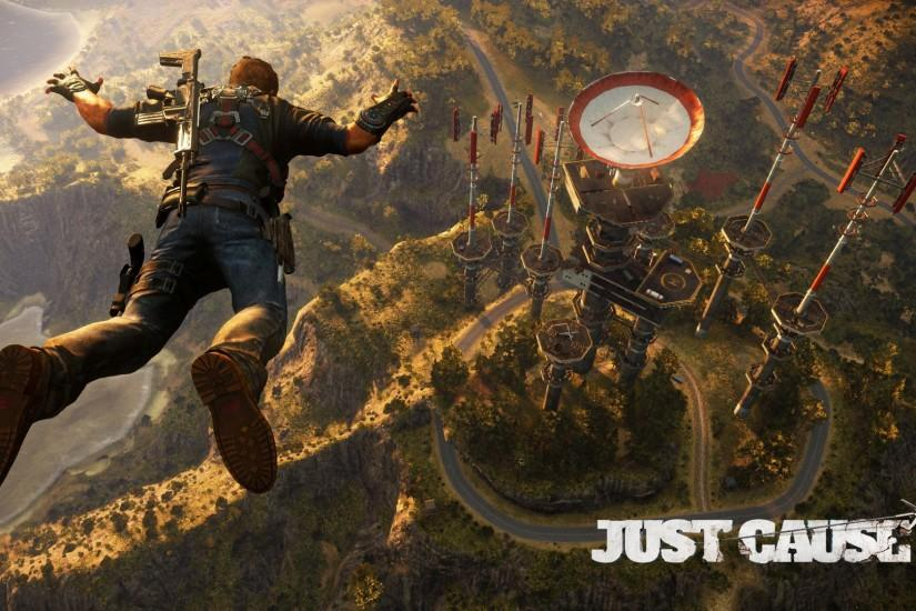 Skydiving to the radar base - Just Cause 3 wallpaper 1920x1080 jpg