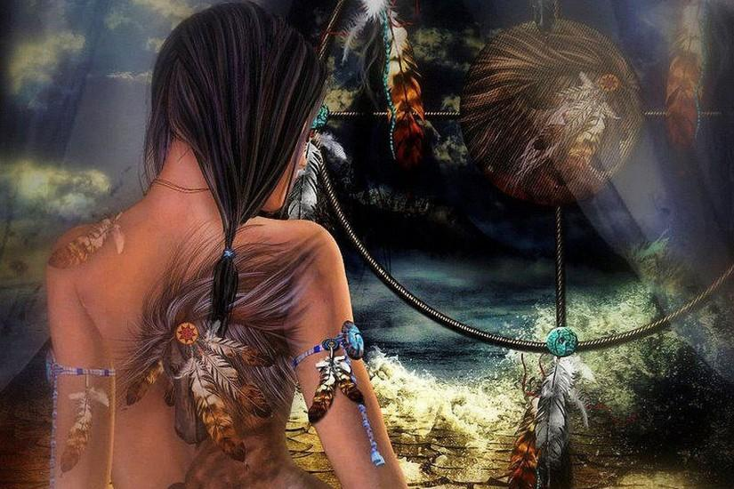 Native American Dreamcatchers | ... Of The Wild Wolf Art Native .