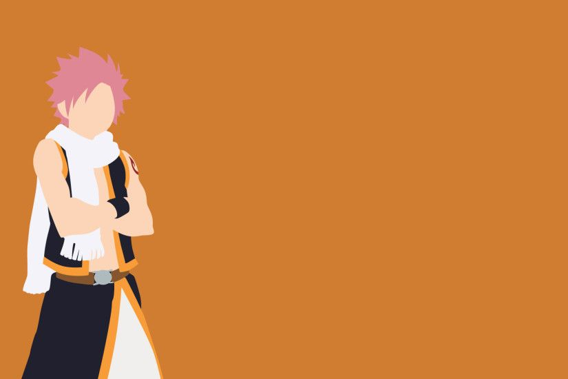 Natsu Dragneel Fairy Tail Minimalistic Wallpaper by greenmapple17