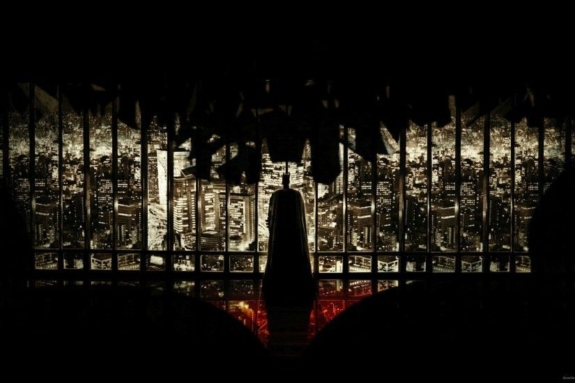 The Dark Knight Rises Bat Shaped Poster for 2560x1440