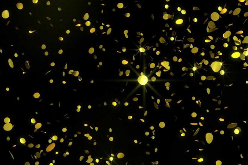 'Golden Confetti' - Glamorous Falling Confetti Motion Background  Loop_SampleStill