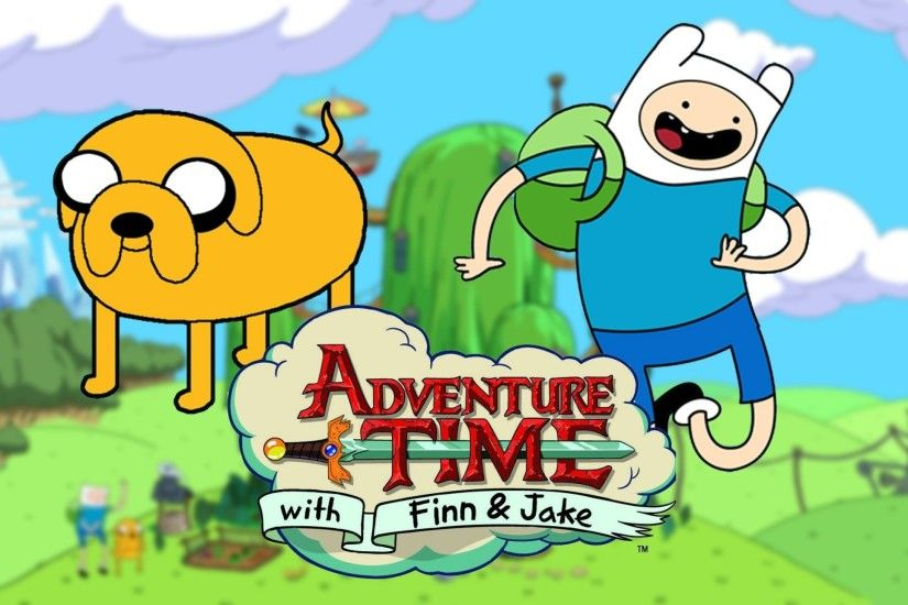 adventure time adventure time with finn and jake finn the human jake  1920x1080 wallpaper Art HD