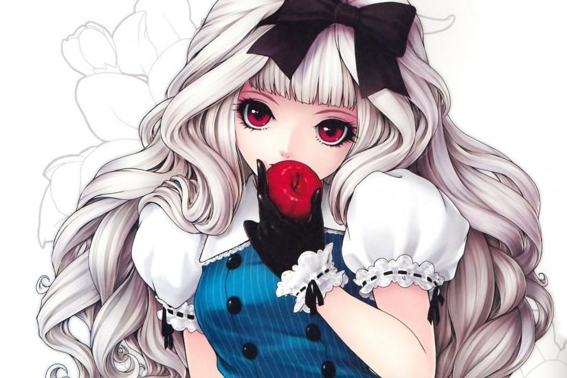 Cute Girl Dazzling Anime Wolf Wallpaper b