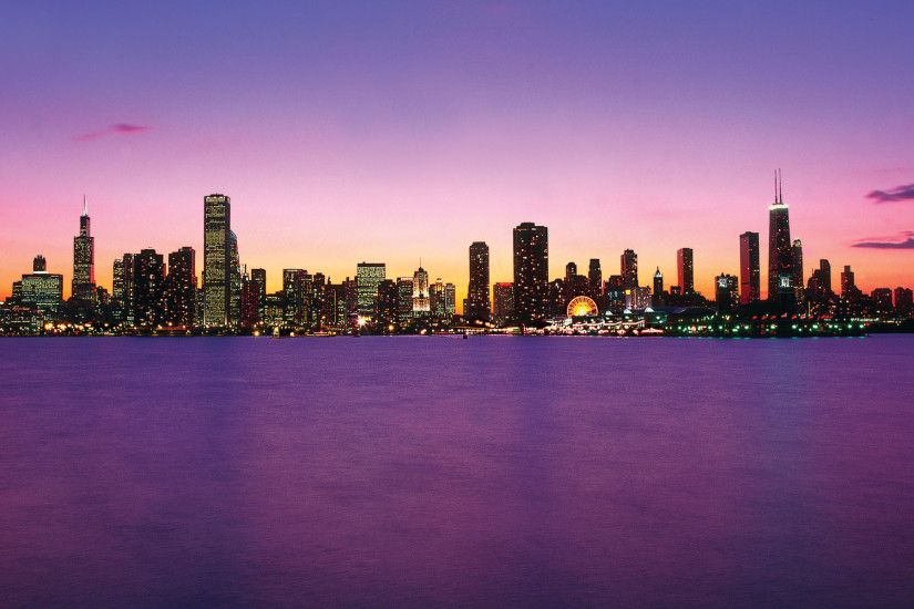 Chicago Skyline Wallpaper | Chicago Skyline Purple photos, wallpapers