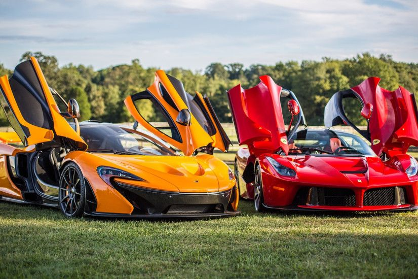 Preview wallpaper mclaren, p1, ferrari, laferrari 1920x1080